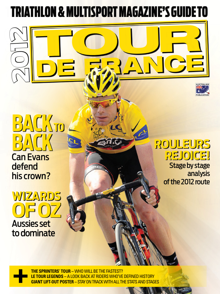 Latest 'Triathlon Mag TOUR DE FRANCE guide.' Cover