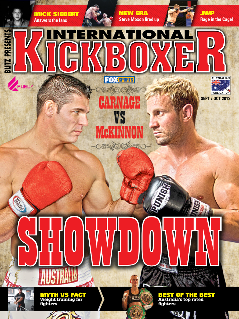 Latest 'International Kickboxer Magazine' Cover