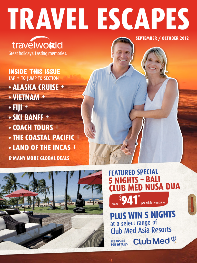 Latest 'Travelworld Travel Escapes' Cover