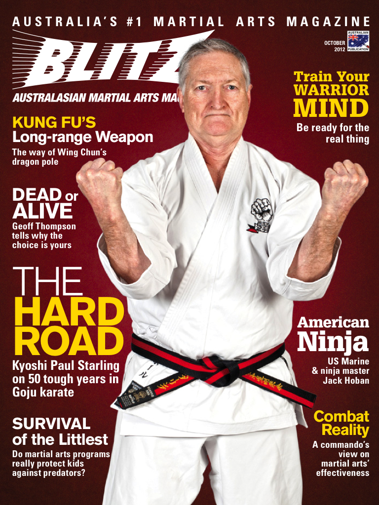 Latest 'BLITZ Martial Arts Magazine' Cover